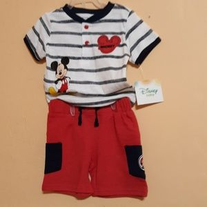 Mickey Mouse Disney Baby 3-6 mo. OUTFIT